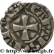 Denier anonyme attribué à Jean de Châtillon – reverse