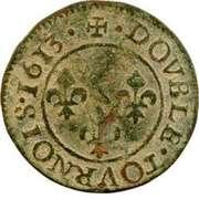 Double Tournois - François (1st type) – reverse