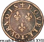 Double Tournois - François (6th type) – reverse