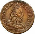 Liard François de Bourbon-Conti au buste large – obverse