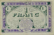 1 franc - Chambres de Commerce de Chateauroux [36] – reverse