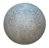 50 Centavos (Hidalgo del Parral) – reverse