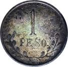 1 Peso (Hidalgo del Parral) – reverse
