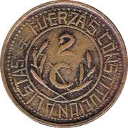 2 Centavos (Hidalgo del Parral) – reverse