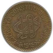 10 Centavos (Constitutionalist Army) – reverse