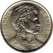 """1 Peso (""""BERNARDO O'HIGGINS"""") -  obverse"""