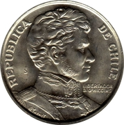 """1 Peso (""""LIBERTADOR B. O'HIGGINS"""") -  obverse"""