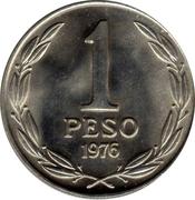 """1 Peso (""""LIBERTADOR B. O'HIGGINS"""") -  reverse"""
