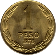 1 Peso (large issue) -  reverse