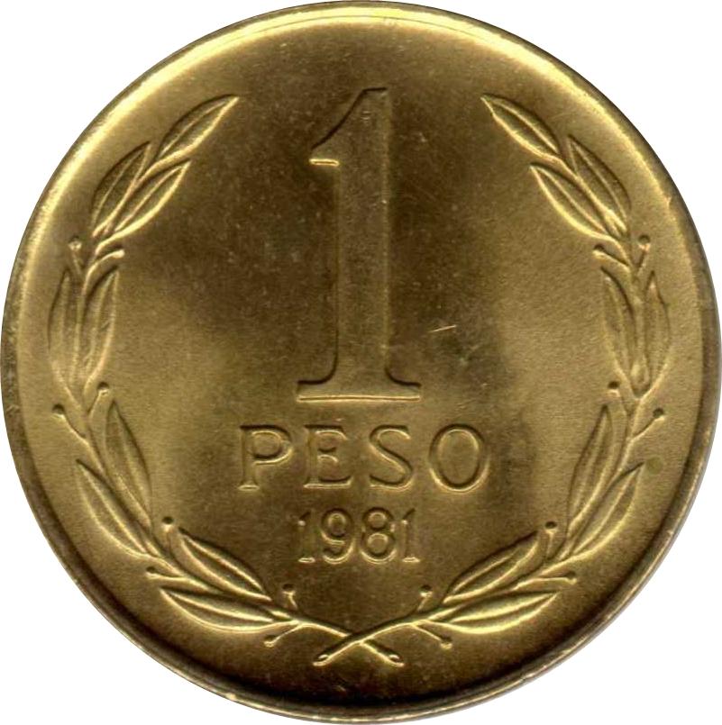Chile 1990 1 Peso Uncirculated KM216.2