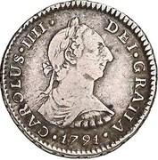 1 Real - Carlos IV (bust of Carlos III, CAROLUS IIII) – obverse
