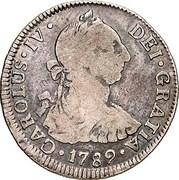 2 Reales - Carlos IV (bust of Carlos III) – obverse
