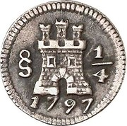 ¼ Real - Carlos IV (with mintmark) – obverse