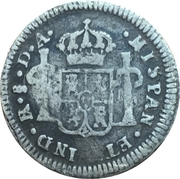 ½ Real - Carlos IV (bust of Carlos III) – reverse