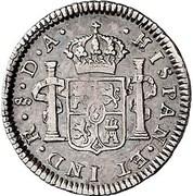 ½ Real - Carlos IV (bust of Carlos III, CAROLUS IIII) – reverse