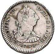 1 Real - Carlos IV (bust of Carlos III) – obverse