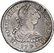 2 Reales - Carlos IV (bust of Carlos III, CAROLUS IIII) – obverse