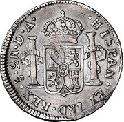 2 Reales - Carlos IV (bust of Carlos III, CAROLUS IIII) – reverse