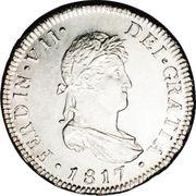 2 Reales - Fernando VII (bust of Fernando VII) – obverse