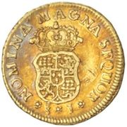 1 Escudo - Fernando VI (bust of Felipe V) – reverse