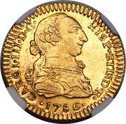 1 Escudo - Carlos III (bust of Carlos III, regular type) – obverse
