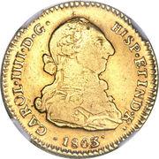 2 Escudos - Carlos IV (bust of Carlos III, CAROL IIII) – obverse