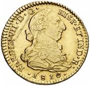 2 Escudos - Fernando VII (bust of Carlos III) – obverse