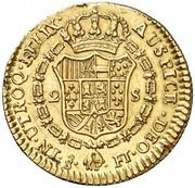 2 Escudos - Fernando VII (bust of Carlos III) – reverse