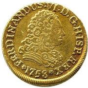 2 Escudos - Fernando VI (bust of Felipe V) – obverse