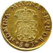 2 Escudos - Fernando VI (bust of Felipe V) – reverse
