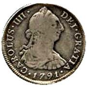4 Reales - Carlos IV (bust of Carlos III, CAROLUS IIII) – obverse