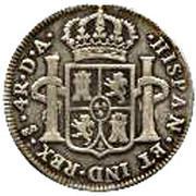 4 Reales - Carlos IV (bust of Carlos III, CAROLUS IIII) – reverse