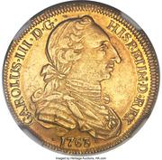 4 Escudos - Carlos III (bust of Carlos III, rat nose type) – obverse