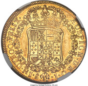 4 Escudos - Carlos III (bust of Carlos III, rat nose type) – reverse