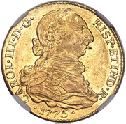 4 Escudos - Carlos III (bust of Carlos III, regular type) – obverse