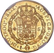 4 Escudos - Carlos III (bust of Carlos III, regular type) – reverse