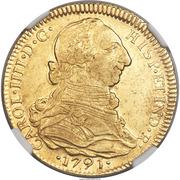 4 Escudos - Carlos IV (bust of Carlos III, CAROL IIII) – obverse