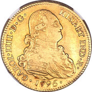 4 Escudos - Carolus IIII (bust of Carlos IV) – obverse