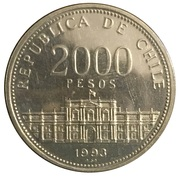2000 Pesos (Anniversary of the Mint) – reverse