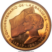 500 Pesos (150th Anniversary of National Flag) – obverse