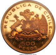 500 Pesos (150th Anniversary of National Flag) – reverse