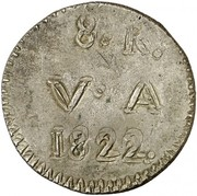 8 Reales (Countermarked coinage) – reverse
