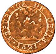 ¼ Real (San Bernardo de Maypo) – obverse