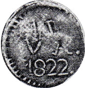 1 Real (Countermarked coinage) – reverse