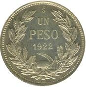1 Peso (coin alignment) – reverse