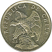 1 Peso (medal alignment) -  obverse