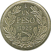 1 Peso (medal alignment) -  reverse