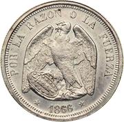 1 Peso (Pechugon style Pattern) – obverse
