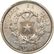 1 Peso (Pechugon style Pattern) – reverse