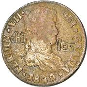 8 Reales - Fernando VII (Countermarked Coinage) – obverse